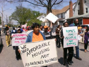 Protest centers on Hollis properties 1