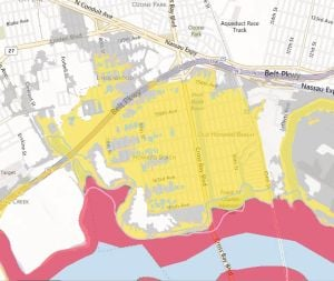 <p>Nearly all of Howard Beach is included in the preliminary FEMA flood maps, but some blocks in Rockwood Park are in a lower zone that would not require residents to purchase flood insurance.</p>