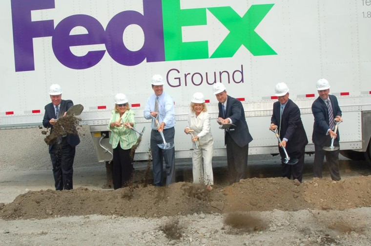 FedEx starts work on new facility 1