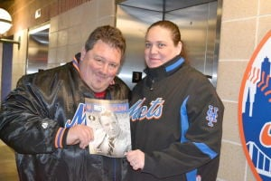"<p>Kenneth Gianantt of Glendale and Kathleen O'Hara of Middle Village, holding a Ralph Kiner tribute edition of ""Mets Magazine,"" said they have been to one Mets opening day that was colder than Monday. ""In 2003, when it was snowing and had 40-mile-an-hour winds,"" O'Hara said.</p>"