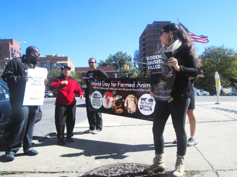 Activists protest against live markets 1