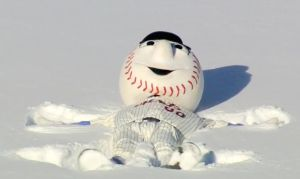 Mr. Met has a snow day 1