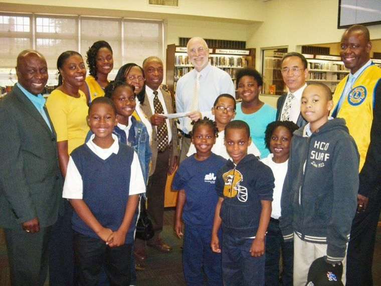 Lions clubs support the Laurelton Library 1