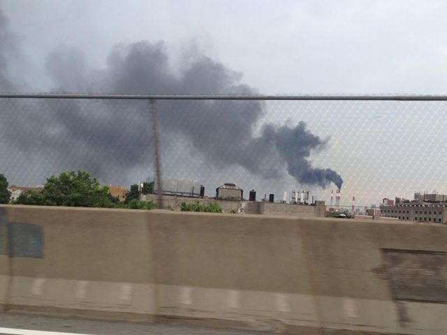 Astoria power plant spew black smoke
