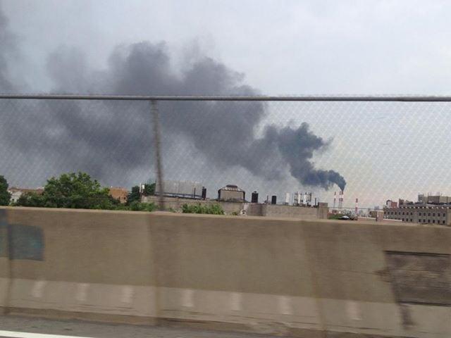 Astoria power plant spew black smoke