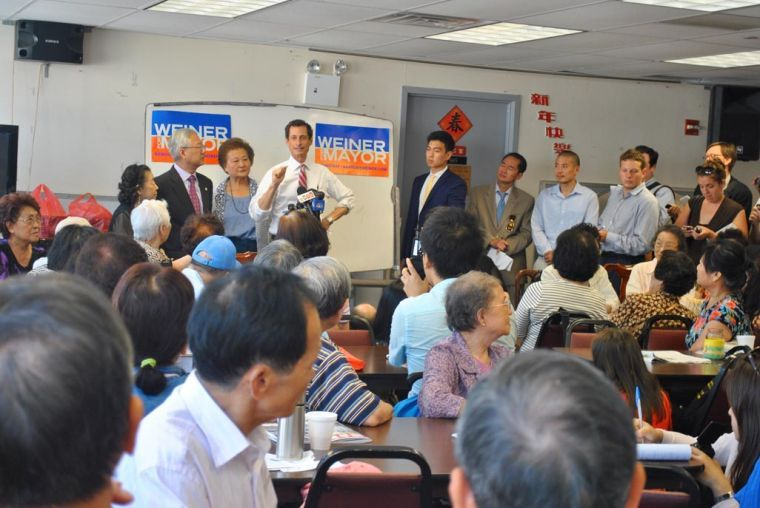 Anthony Weiner visits Nan Shan Senior Center