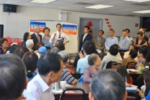 Anthony Weiner visits Nan Shan Senior Center