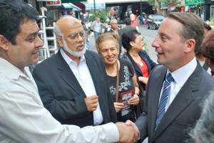 Astorino mingles with Hispanic voters 1