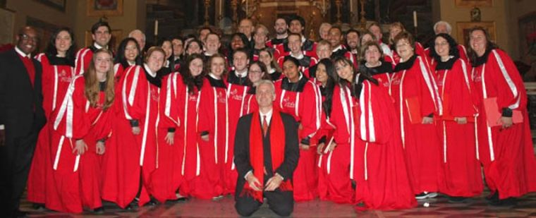 St. John's Choir members meet the Pope in Rome 1