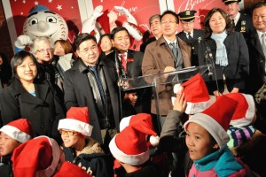 The holiday season comes to Flushing