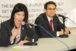 Elizabeth Crowley and Craig Caruana face off in sharp NYC Council debate
