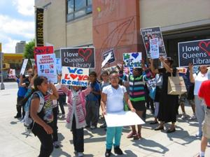 PS 111 students protest library cuts 1