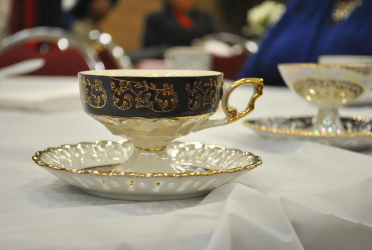 Fancy fun at high tea for seniors in St. Albans