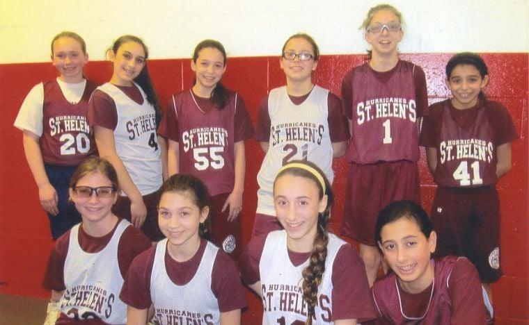 St. Helen girls hit the court 1
