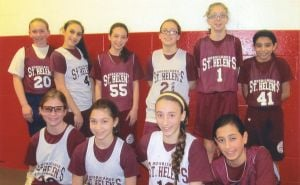 St. Helen girls hit the court 1