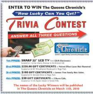 Enter to win the Queens Chronicle's Trivia Contest