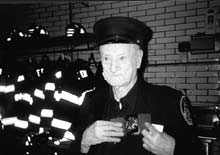 96-Year-Old Vol. Herbie Brown Honored At Firehouse In Flushing