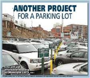 Housing set for city parking lot