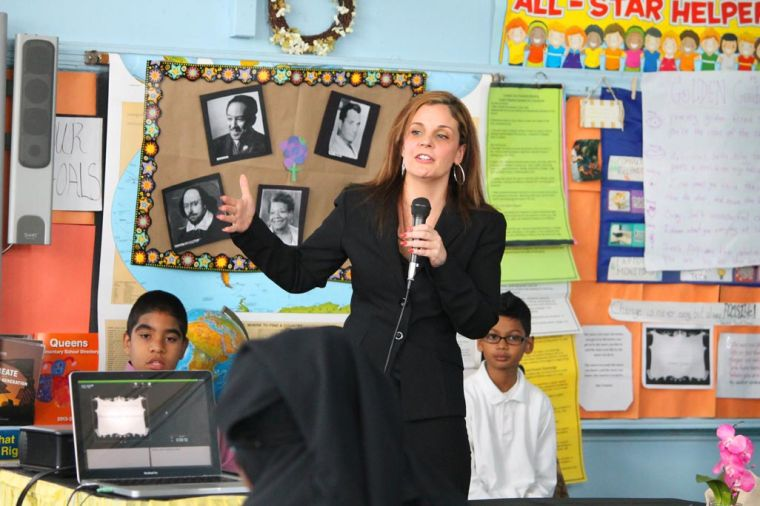 Fourth graders at PS 96 wax poetic 1