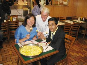 Noshing on knaidel 1