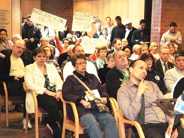 Protestors weigh in at area town hall 1