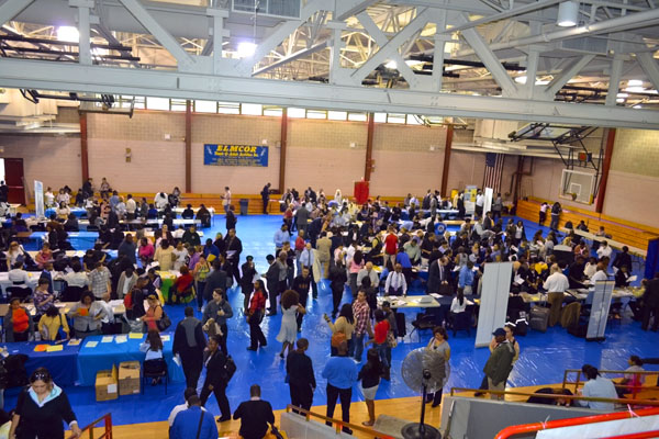 Job seekers flock to Corona 1