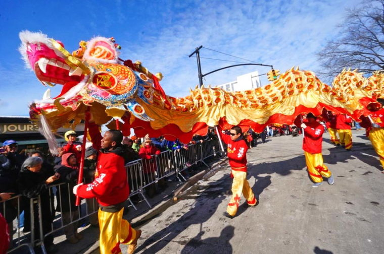 A colorful Lunar New Year Parade