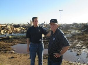 Oklahoma tornado survivors meet Phil Goldfeder  3