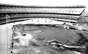 Shea Stadium nearing completion 1