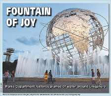 Plumes of water return to Unisphere
