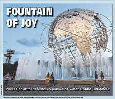 Plumes of water return to Unisphere