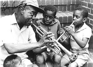 Celebrate music with Louis Armstrong 1