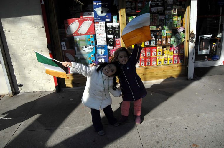 St. Patrick's Day parade fills Woodside