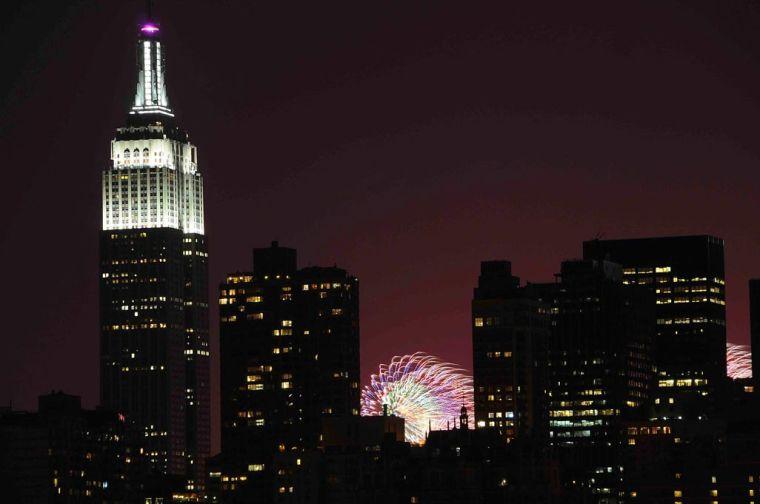 Fireworks peek from Hudson 1