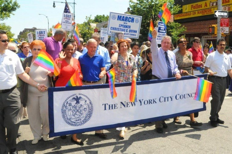 Queens shows pride, support