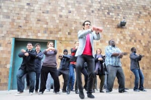 LGCC students make Gangnam Style for Freedom video with Anish Kapoor 1