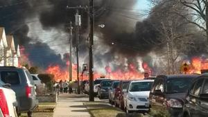 Massive Howard Beach brush fire burns Spring Creek Park