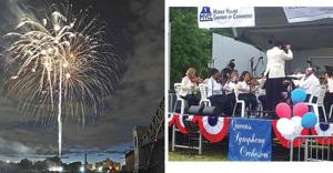 Qns. Symphony gives prelude to July 4 1