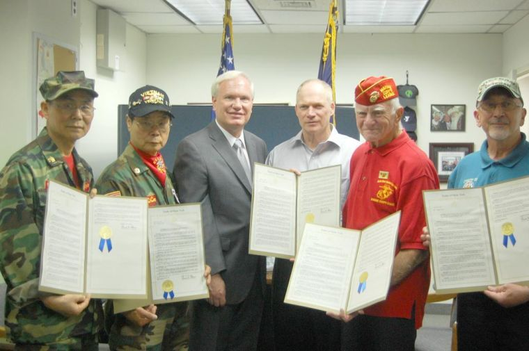 Area vets honored by state Senate1