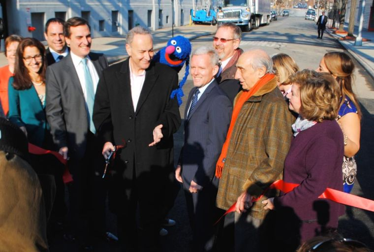 Kaufman cuts ribbon on first outdoor stage 2