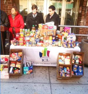 Council members donate food to vets 1