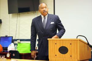 Tucker talks tactics with 112th Precinct 1