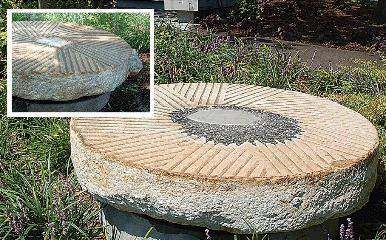 Signage will explain 1600s millstones 1