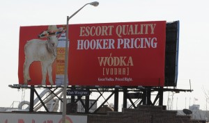 Vodka billboard