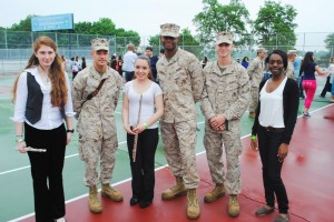 Marine Corps lands at Forest Hills High School for Fleet Week visit 1