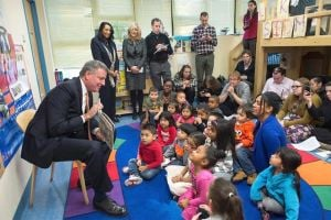 Mayor unveils plan for pre-K, as does Cuomo 1