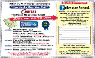 Enter to win the Queens Chronicle's Contest