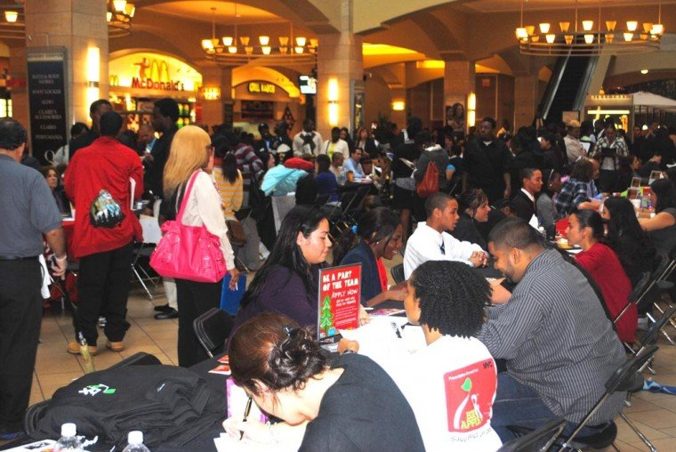 Job seekers flock to Queens Center 1