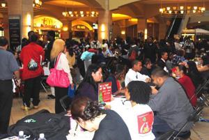 Job seekers flock to Queens Center 1