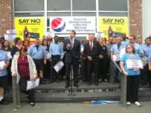 Pepsi plant workers rally against soda tax